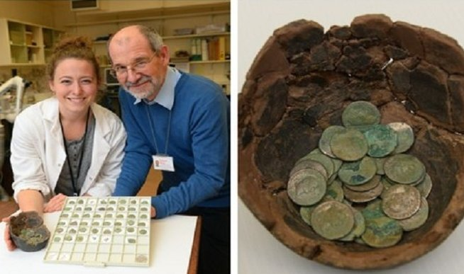 Kho báu tiền xu phát hiện trên cánh đồng gần làng Wick ở miền nam xứ Wales