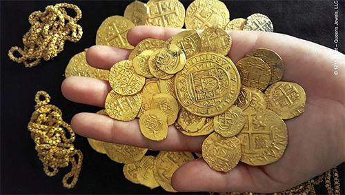 Gia đình người Mỹ đã phát hiện kho vàng triệu đô trong xác tàu đắm