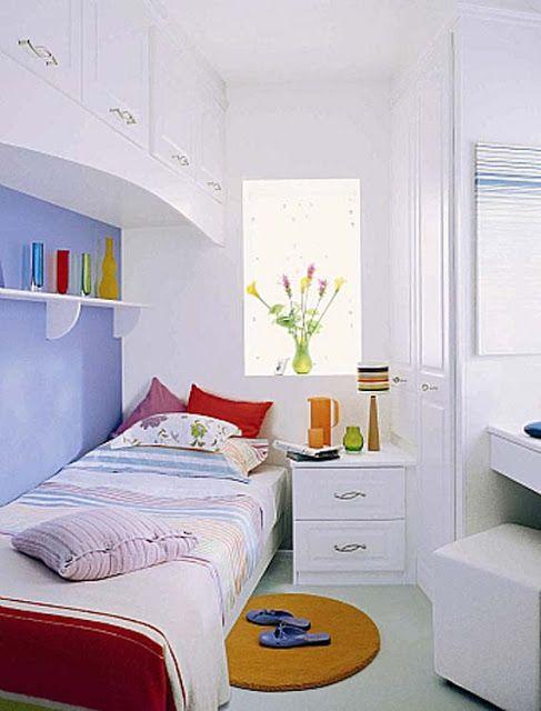 Nên sử dụng gam màu sáng cho phòng ngủ có không gian hẹp