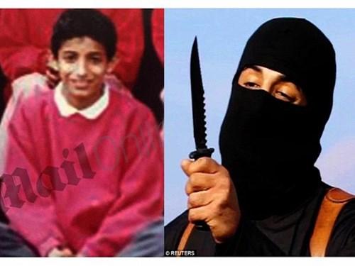 Mohammed Emwazi khi còn là một cậu bé (trái), hiện nay đã trở thành đao phủ khét tiếng của IS