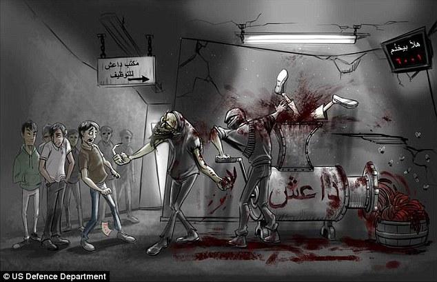 Tờ rơi lên án khủng bố IS ở Syria