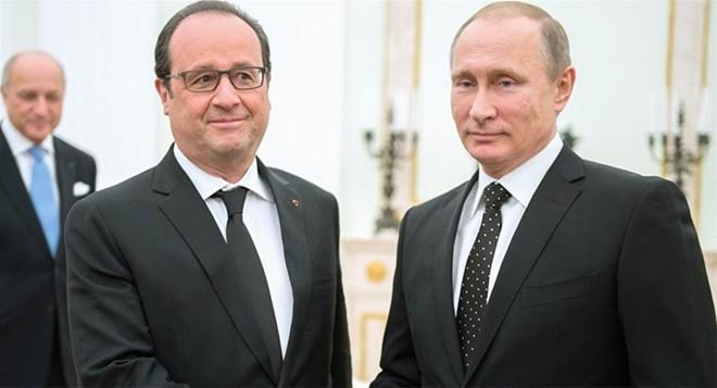 Tổng thống Putin và người đồng cấp Pháp, Francois Hollande, có cuộc hội đàm quan trọng ở Moscow hôm 26/11