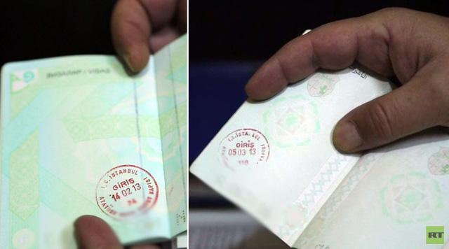 Hộ chiếu của các phiến quân khủng bố IS có con dấu nhập cảnh Thổ Nhĩ Kỳ