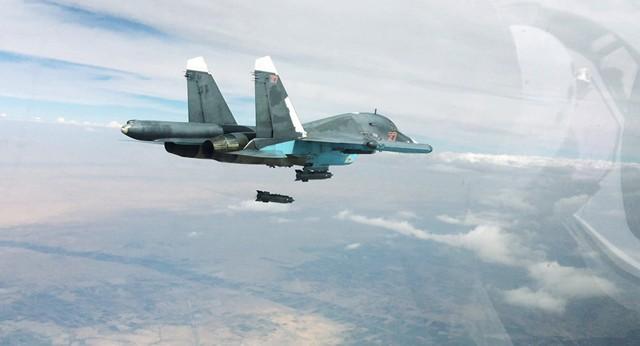 Máy bay Nga không kích 32 mục tiêu, phá hủy bệ phóng tên lửa của khủng bố IS