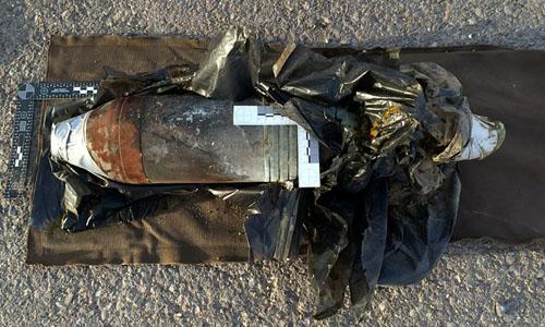 Quả đạn pháo được cho là chứa chất độc hóa học của IS