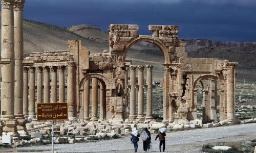Một di tích tại thành phố cổ Palmyra
