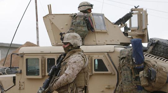 Một nhóm lính thủy đánh bộ Mỹ thuộc đơn vị lính thủy đánh bộ viễn chinh số 26 đã được điều động tới Iraq