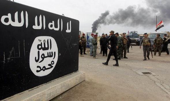 Lá cờ của khủng bố IS tại Syria