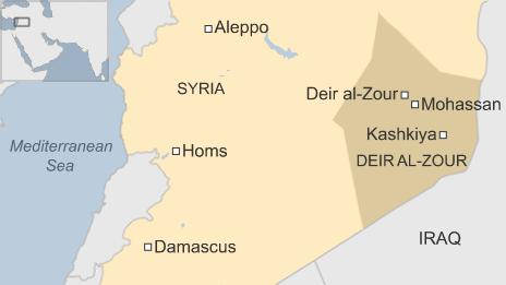 Ngôi mộ tập thể được phát hiện tại thành phố Deir al-Zour, phía đông Syria