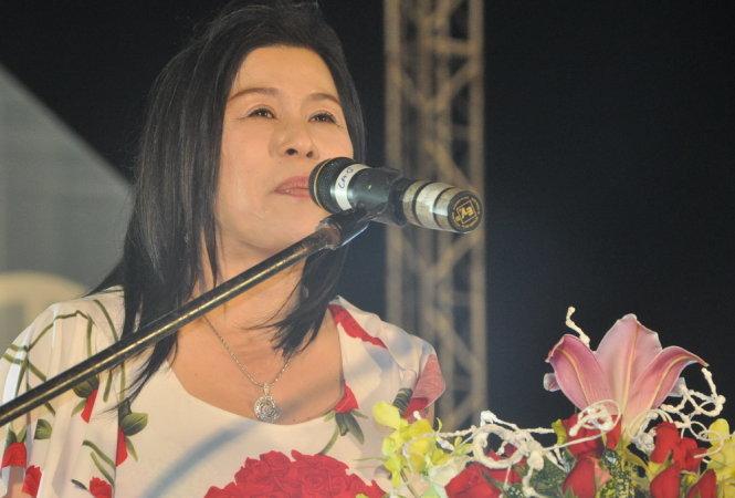 Bà Hà Linh tại một sự kiện được tổ chức tại TP. Đà Lạt