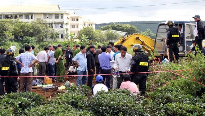 Hiện trường nơi nghi phạm Kiều Quốc Huy giết người chôn xác từ 3 năm trước là khu vườn chè của gia đình nạn nhân