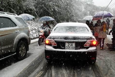 Cẩn trọng khi lái xe trong băng tuyết
