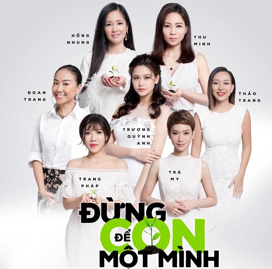 Nhiều ca sĩ nổi tiếng Việt Nam đã tham gia vào dự án 'Đừng để con một mình'