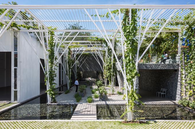 Nhà vườn xanh mát tại TP.HCM có kiến trúc vô cùng ấn tượng