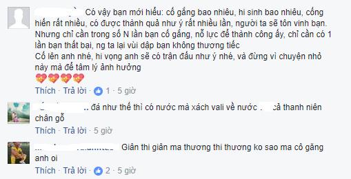 Suốt 1 ngày qua, Facebook Hồ Tuấn Tài xuất hiện rất nhiều bình luận cho thấy thái độ của các cổ động viên VN