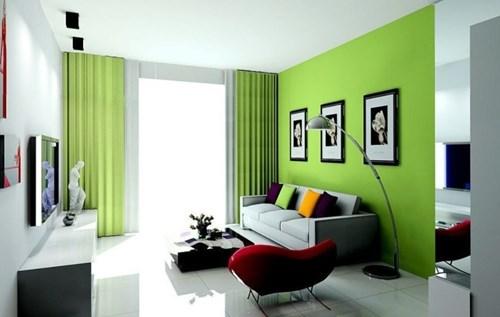 Cần cân nhắc khi sơn tường nhà màu xanh lá cây để không ảnh hưởng đến sức khỏe
