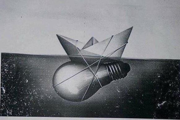 Hình ảnh con thuyền và bóng đèn mang nhiều ý nghĩa ẩn dụ