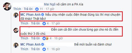 Một chủ FB được cho là bạn của Mai Ngô đã đồng tình với quan điểm của MC Phan Anh