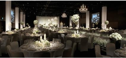 Không gian tiệc cưới trong nhà tại khách sạn Shilla