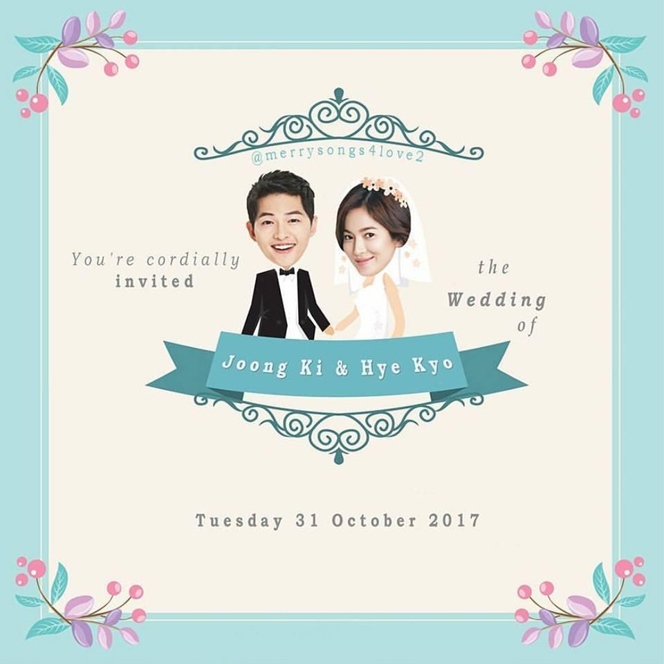Fan đã tự thiết kế những tấm thiệp cưới vô cùng đẹp mắt cho Song Joong Ki và Song Hye Kyo