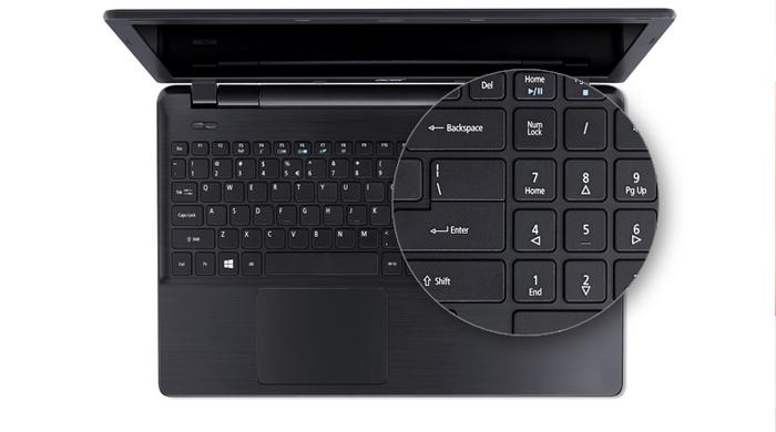 Laptop giá rẻ Acer E5 cấu hình mạnh mẽ, màn hình cỡ lớn ấn tượng