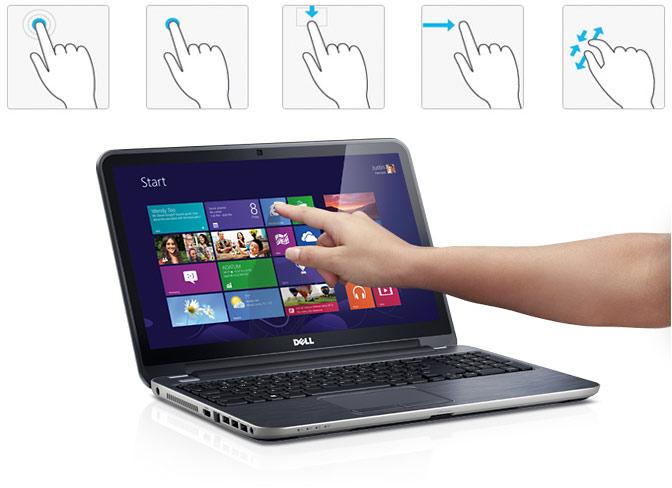 Laptop giá rẻ Dell sở hữu màn hình cảm ứng nổi bật