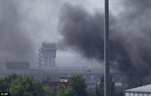 không kích tại Donetsk