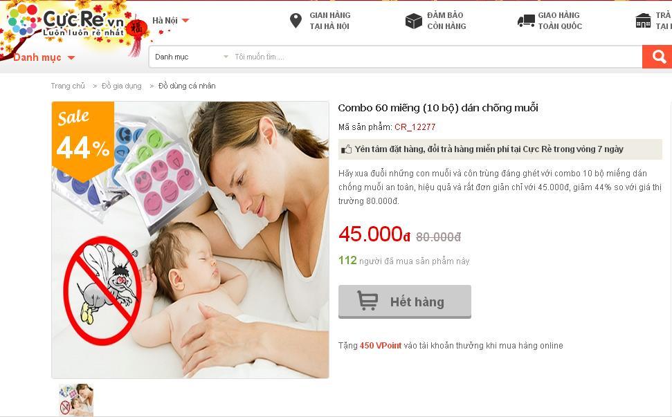 Miếng dán bị thu hồi được quảng cáo an toàn cho trẻ sơ sinh ở Việt Nam