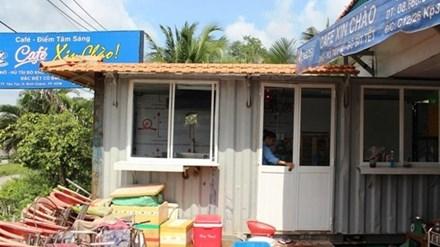 Đặt container làm nơi rửa chén: Cà phê 'Xin Chào' lại suýt bị cắt điện nước oan