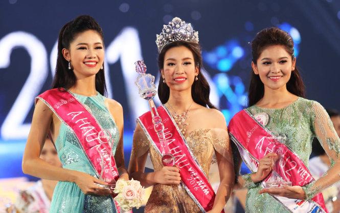 Á hậu 1 là Ngô Thanh Thanh Tú và Á hậu 2 là Huỳnh Thị Thùy Dung.