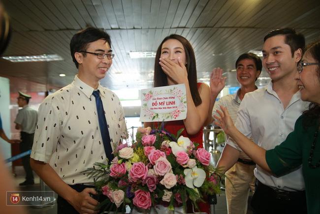 Hoa hậu Đỗ Mỹ Linh rạng rỡ trở về đoàn tụ cùng gia đình