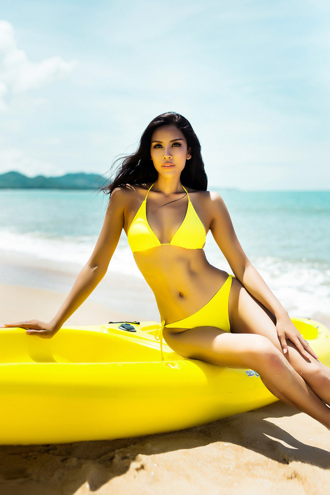 """Nguyễn Thị Loan cũng chính là người đẹp Việt Nam hiếm hoi sở hữu """"số đo vàng"""" 90-62-94."""