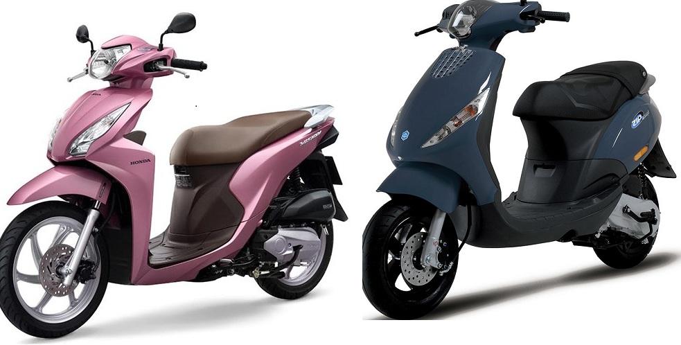 Honda Vision và Piaggio Zip nên mua xe nào là tốt nhất?