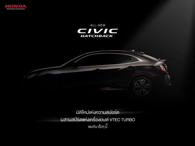 Honda Civic Hatchback 2017 ra mắt tại Thái Lan có gì mới