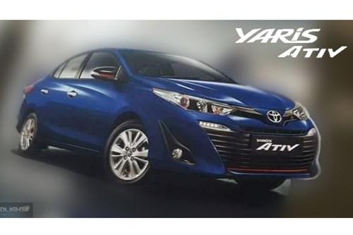 hé lộ về mẫu xe mới Toyota Yaris Ativ