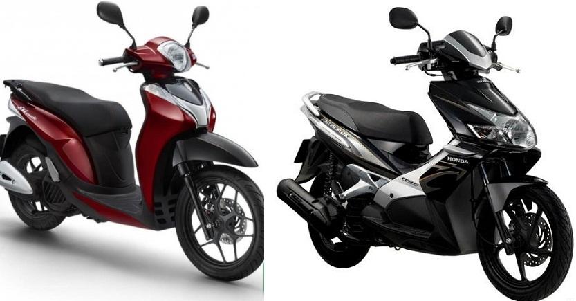 So sánh hai chiếc xe tay ga Honda Air Blade và Honda Sh Mode