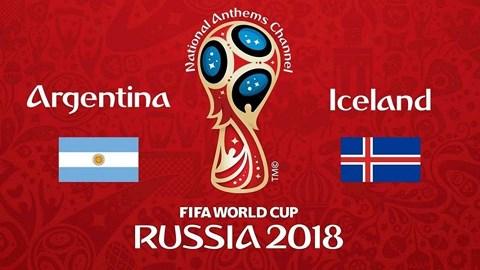 Xem trực tiếp World Cup 2018 Argentina vs Iceland ở đâu?