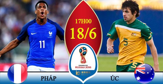 Xem trực tiếp World Cup 2018 Pháp vs Australia ở kênh nào?