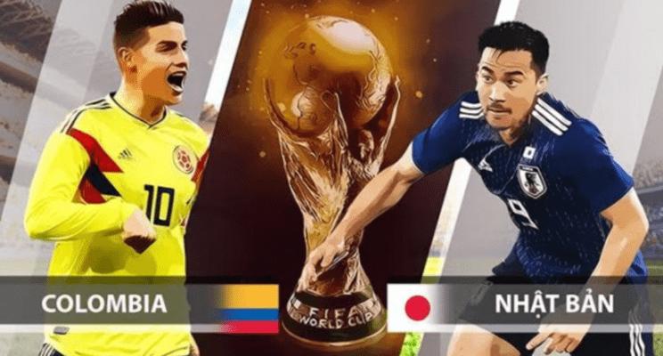 Xem trực tiếp bóng đá World Cup 2018 Colombia vs Nhật Bản
