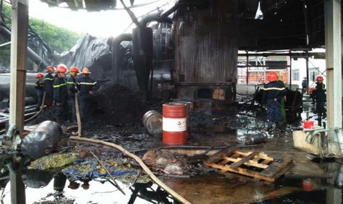 Long An: Sáng 10/9 xảy ra vụ nổ lò hơi làm 5 người thương vong. Ảnh: Lê Quang