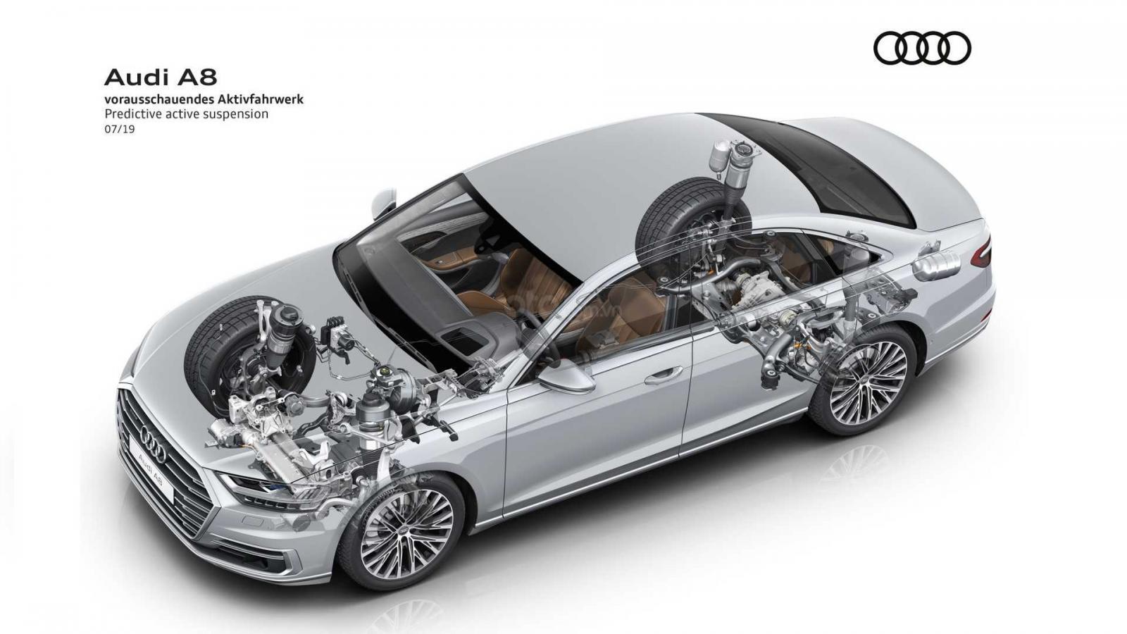 'Soi' hệ thống treo thông minh giúp hạn chế tình trạng lật xe trên Audi A8