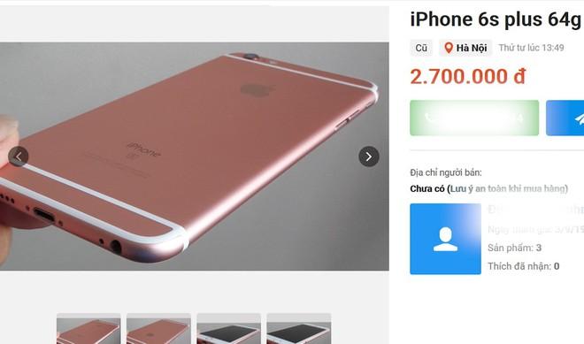 iPhone 6s Plus giảm giá 'sốc' giá chỉ còn 3 triệu đồng