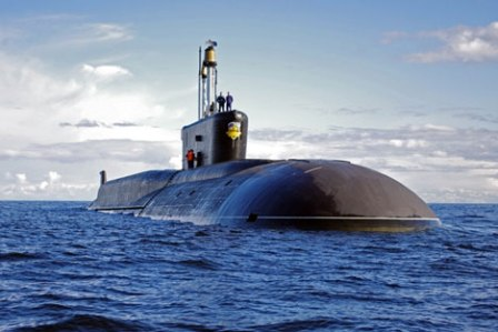 Tàu ngầm  lớp Borei của Nga.