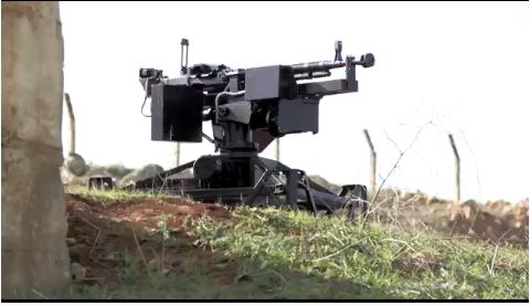 Súng máy điều khiển từ xa của phe nổi dậy Syria.