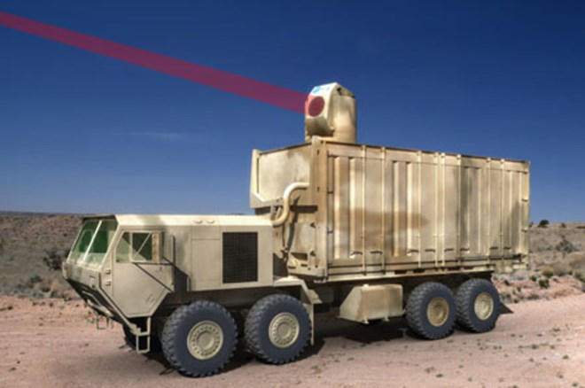 Vũ khí laser Mỹ.