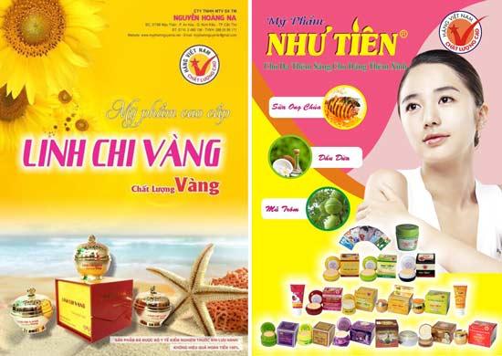Sản phẩm mỹ phẩm được gắn logo HVNCLC.