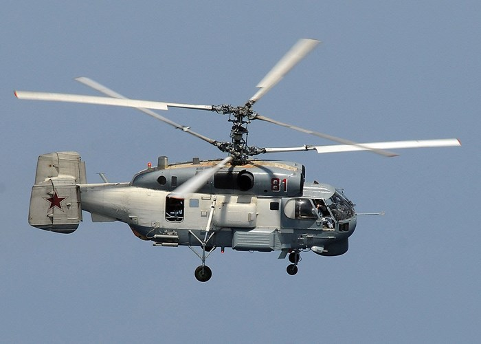 Trực thăng Ka-27M có trọng lượng cất cánh 12 tấn có khả năng phát hiện mọi mục tiêu dù hiện đại.