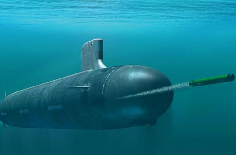 Tàu ngầm USS John Warner  có trọng lượng 7.800 tấn.