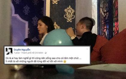 Hình ảnh Hoa hậu Kỳ Duyên hít bóng cười đang gây xôn cao cộng đồng mạng. Ảnh: Kiến Thức