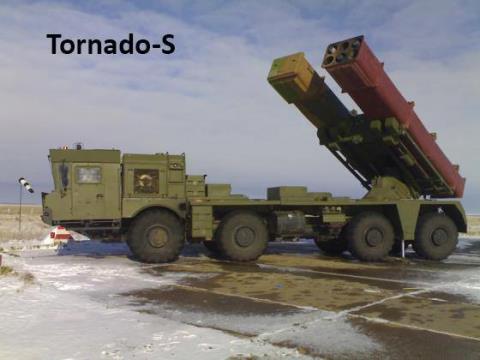 Hệ thống pháo phản lực Tornado-S của Nga. Ảnh: Đất Việt